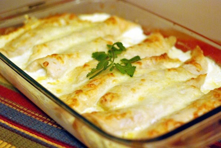 Caramelized Onion & Cream Cheese Turkey Enchiladas