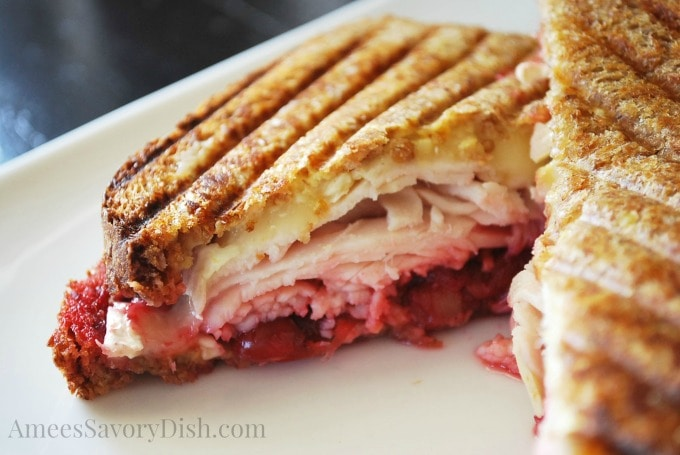 Sprouted Grain Turkey Cranberry and Brie Panini |Amee's Savory Dish