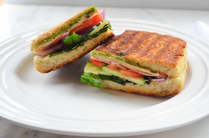 Turkey Pesto Panini's