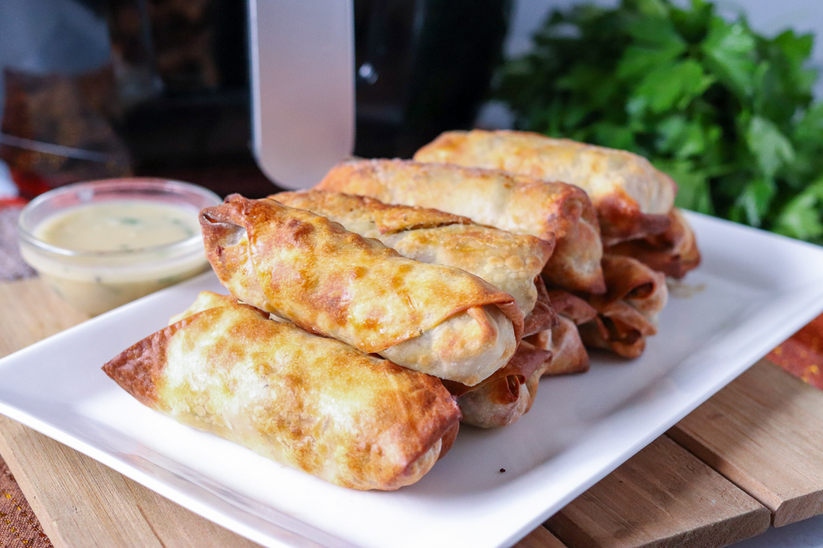 Turkey & Stuffing Air Fryer Egg Rolls
