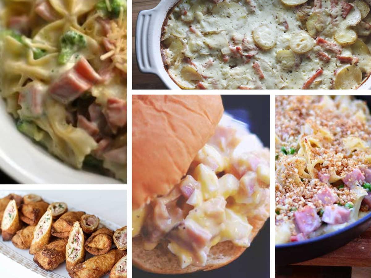 Twenty ham recipes to help you use up your holiday ham leftovers.