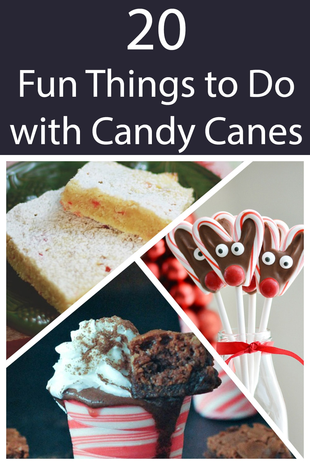 20 Fun Things to do with Candy Canes #christmascrafts #christmas #candycane #peppermint