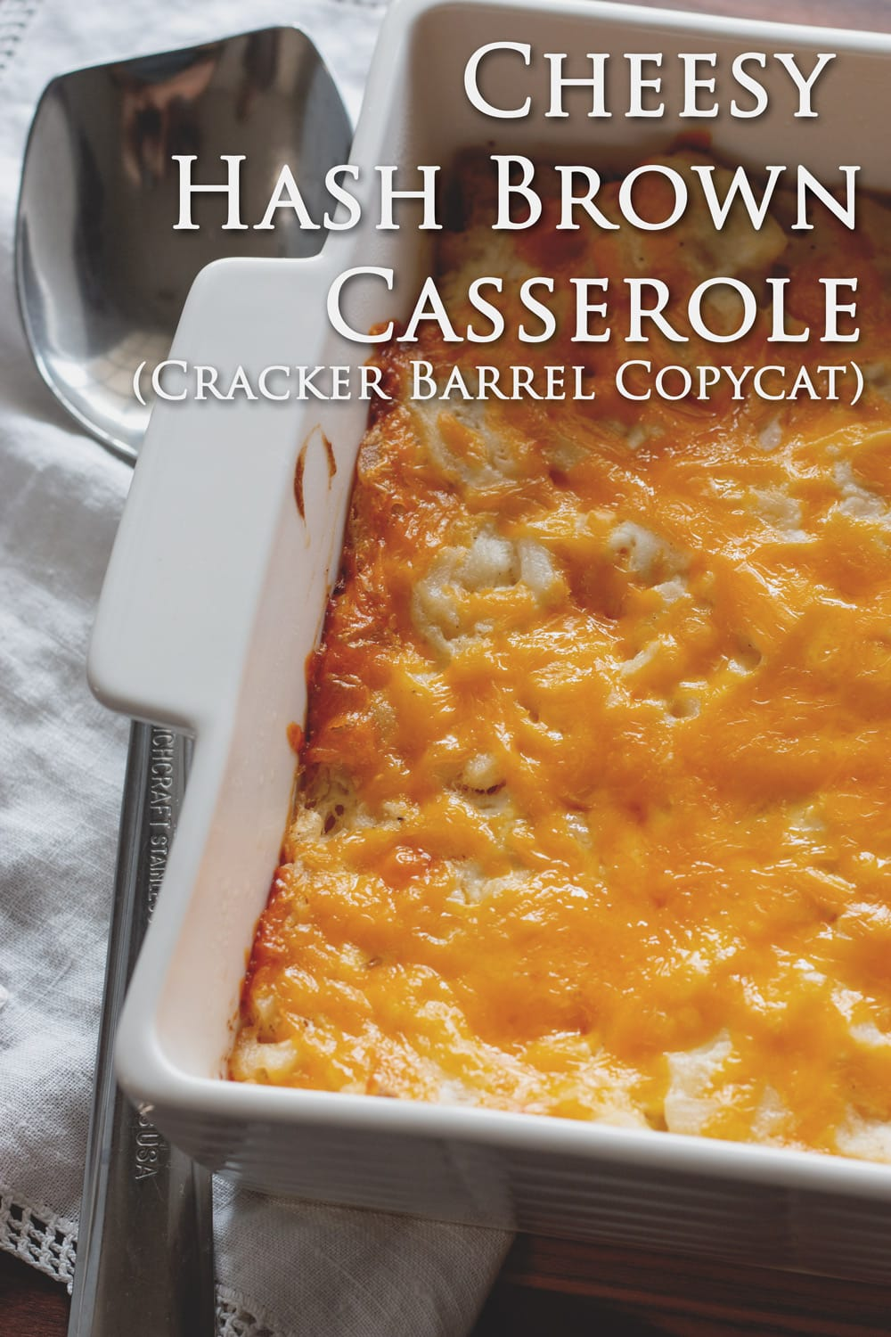 How to make Cheesy Hash Brown Casserole - a Cracker Barrel Copycat Recipe