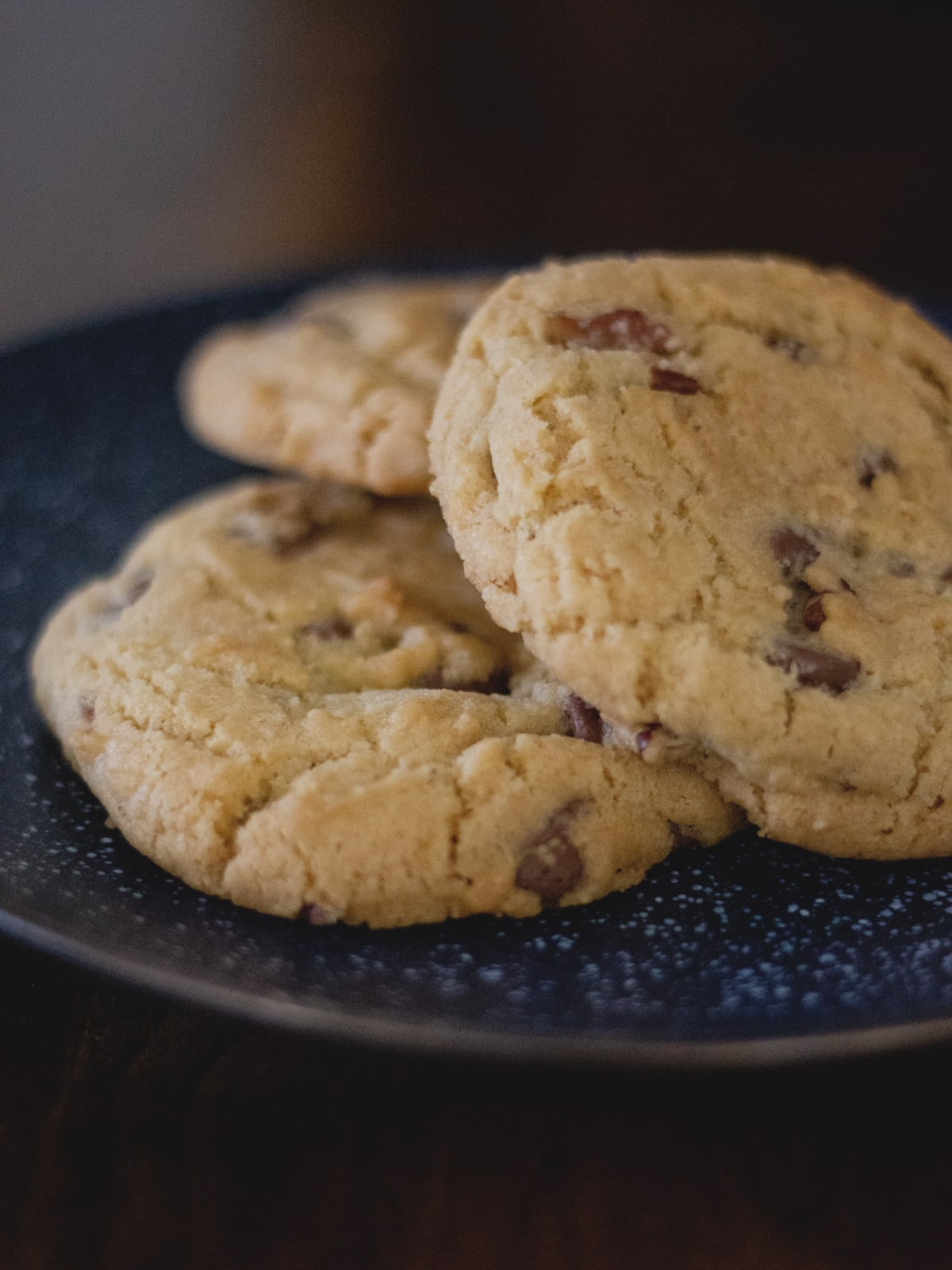 Jumbo Crisp Chocolate Chip Cookies - Hand-sized cookies that are buttery, crunchy and perfect for dipping in milk!