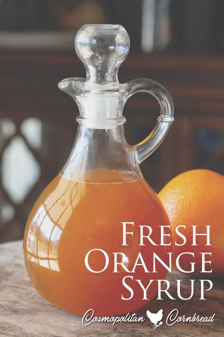 How to make homemade orange syrup from fresh oranges.