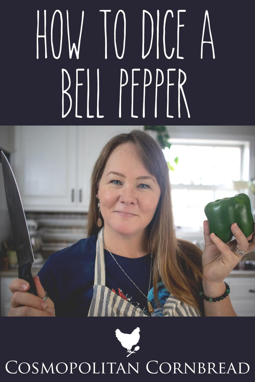 Dicing a pepper doesn't need to be a challenge. Learn to do it with this simple tutorial on how to dice a bell pepper with ease.