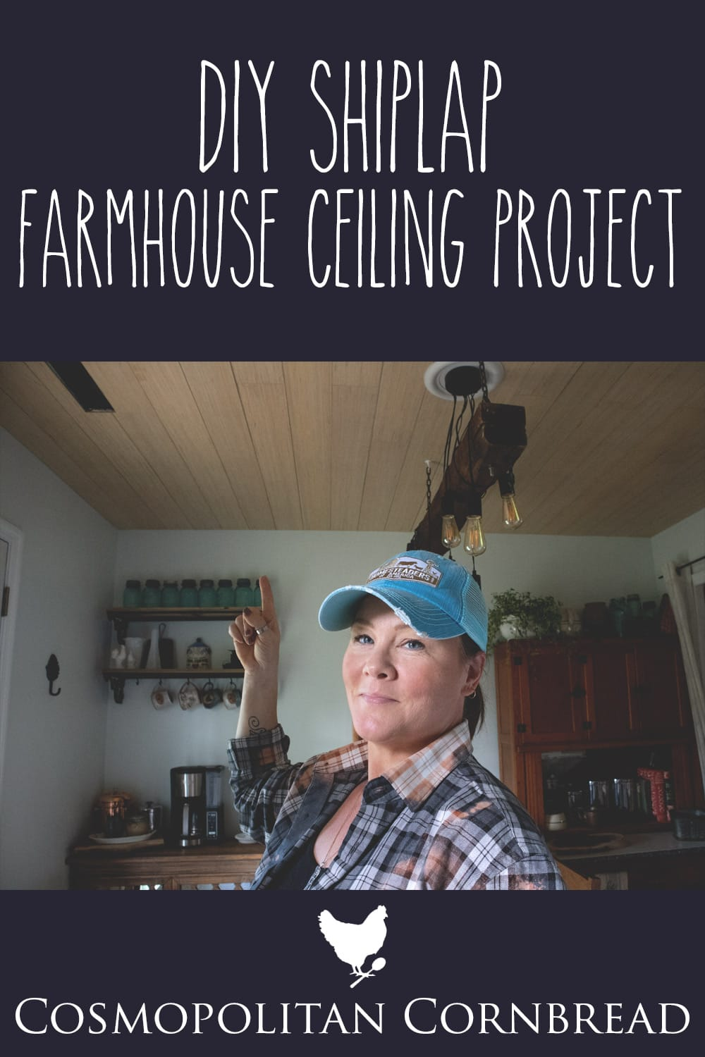 "Creating a shiplap ceiling from plywood for a beautiful ""faux"" shiplap treatment. This is a long awaited project. 