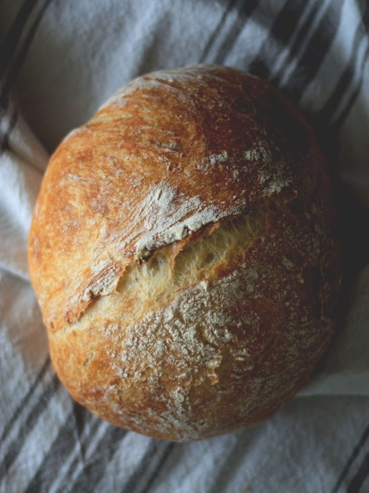 Easy (No-Knead) Homemade Bread