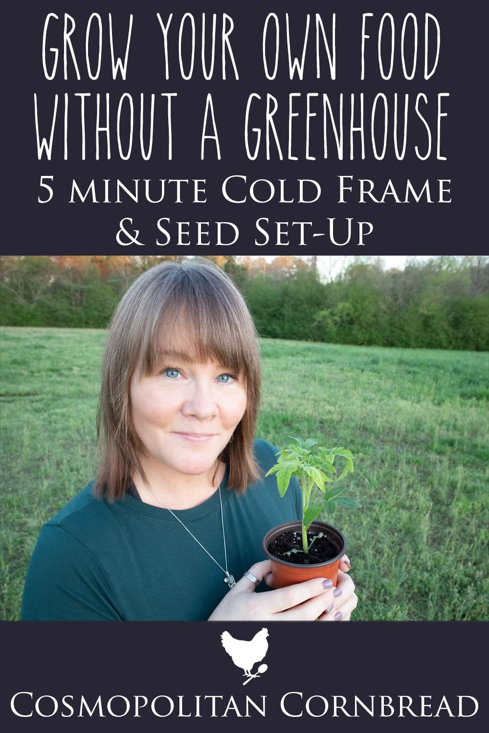 How to Grow Your Own Food without a Greenhouse - Make a 5 Minute Cold Frame & Seed Starting Set-Up