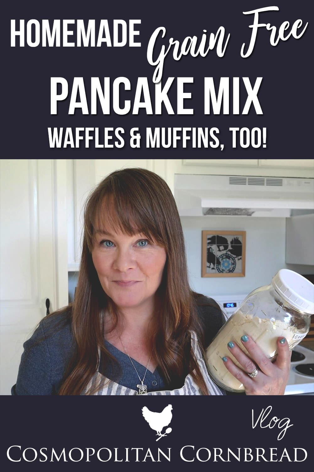 How to make a homemade pancake mix that is grain-free (gluten free) and can also be used to make waffles or muffins!