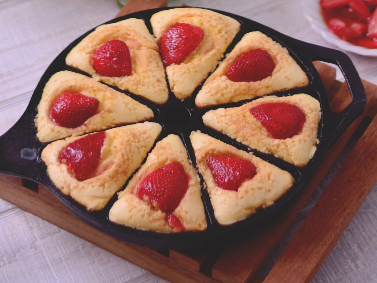Buttermilk Breakfast Cakes with Balsamic Strawberries