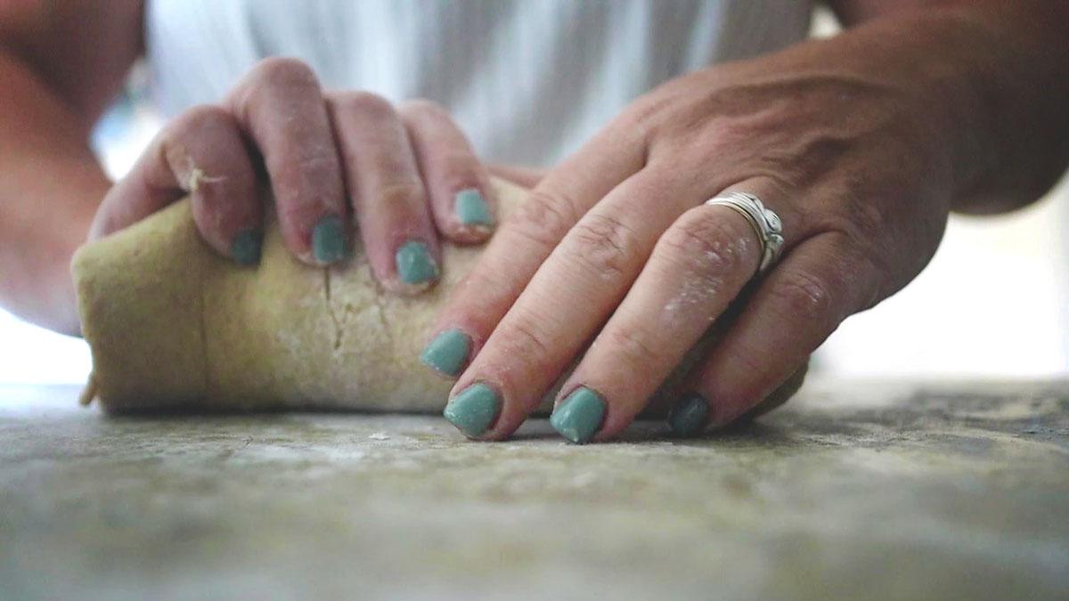 rolling bread dough