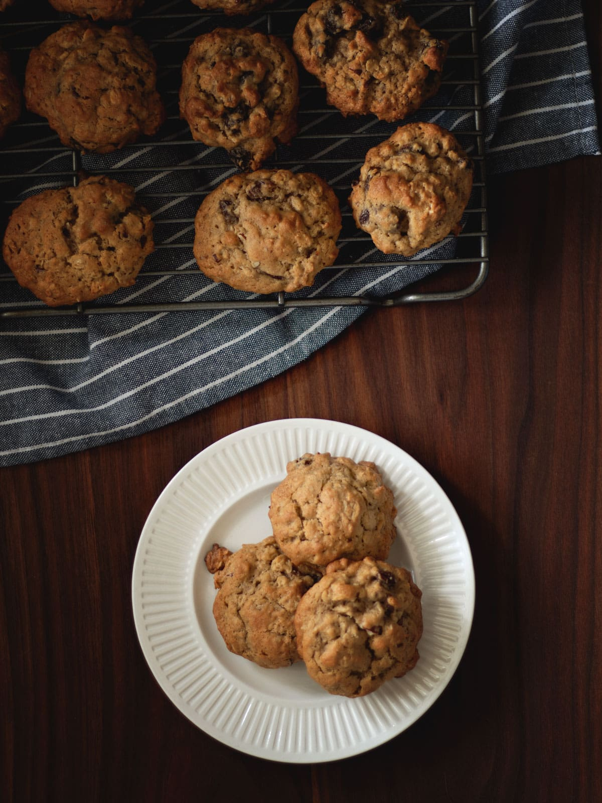 Soft and delicious Old-Fashioned Oatmeal Raisin Cookies. I grew up eating these, and still love them to this day.