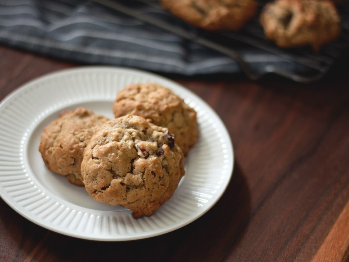 Chewy and delicious Old-Fashioned Oatmeal Raisin Cookies. I grew up eating these, and still love them to this day.