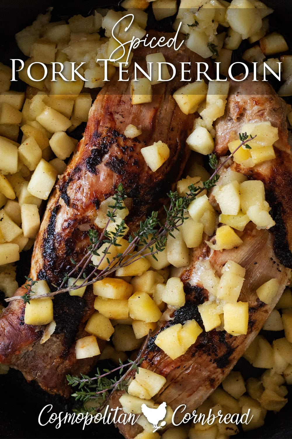 This Pork Tenderloin is brined, seasoned, pan-seared and baked to juicy perfection.