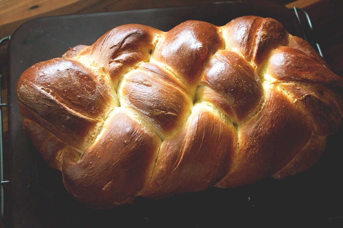 Challah is a beautifully braided, and slightly sweet bread. It uses simple, and basic ingredients. While it looks impressive, it is quite simple to make.