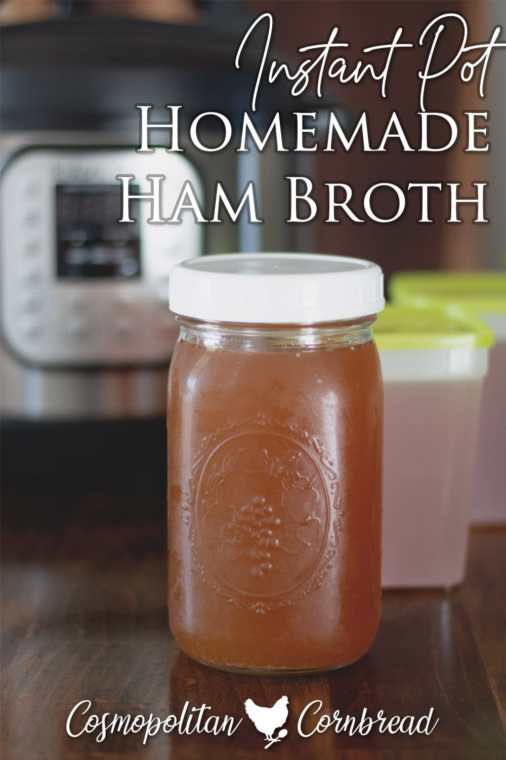 Use your leftover ham bone to create a healthy bone broth (stock) to use for many more recipes.