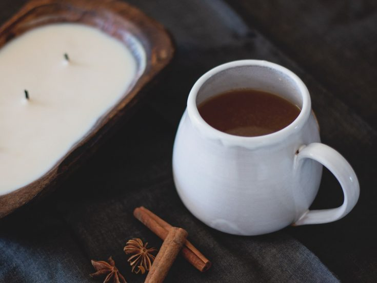 Mulled Apple Cider is a spiced apple cider with orange and warm flavors that are perfect for a cold day.