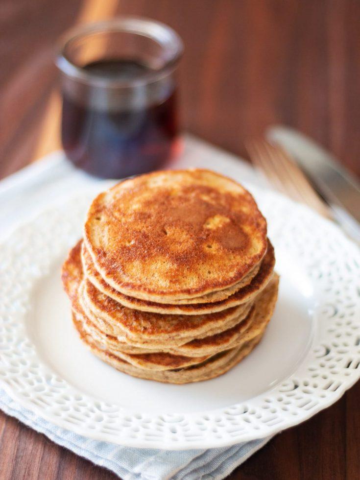 Healthy Apple and Banana Pancakes