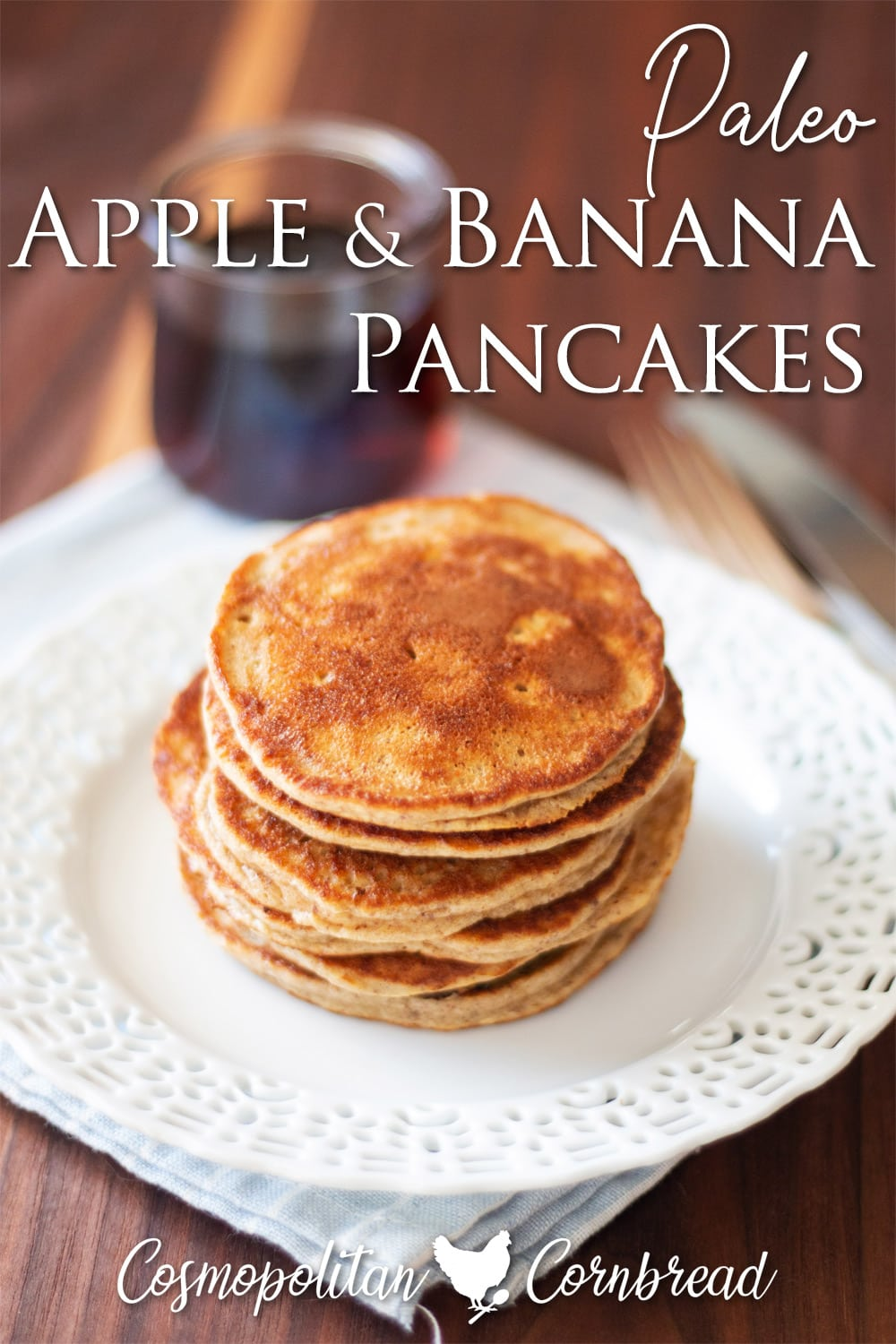 These tasty Apple Banana Pancakes with almond butter are a great way to start any morning. You'll love how easy they are to make.