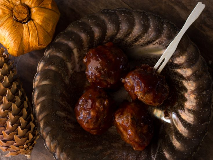 Drunk Moose Meatballs are scrumptious little meatballs bathed in a whiskey-laced barbecue sauce. You can make these with beef, moose or venison.