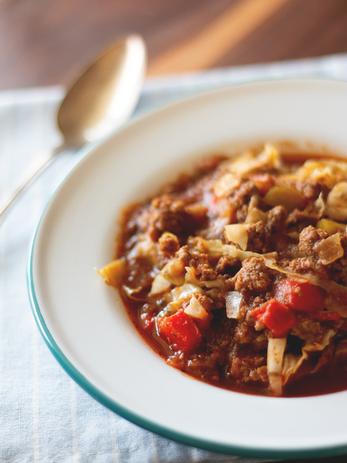This easy Cabbage Roll Soup has all of the flavor of cabbage rolls, but no leaf folding needed!