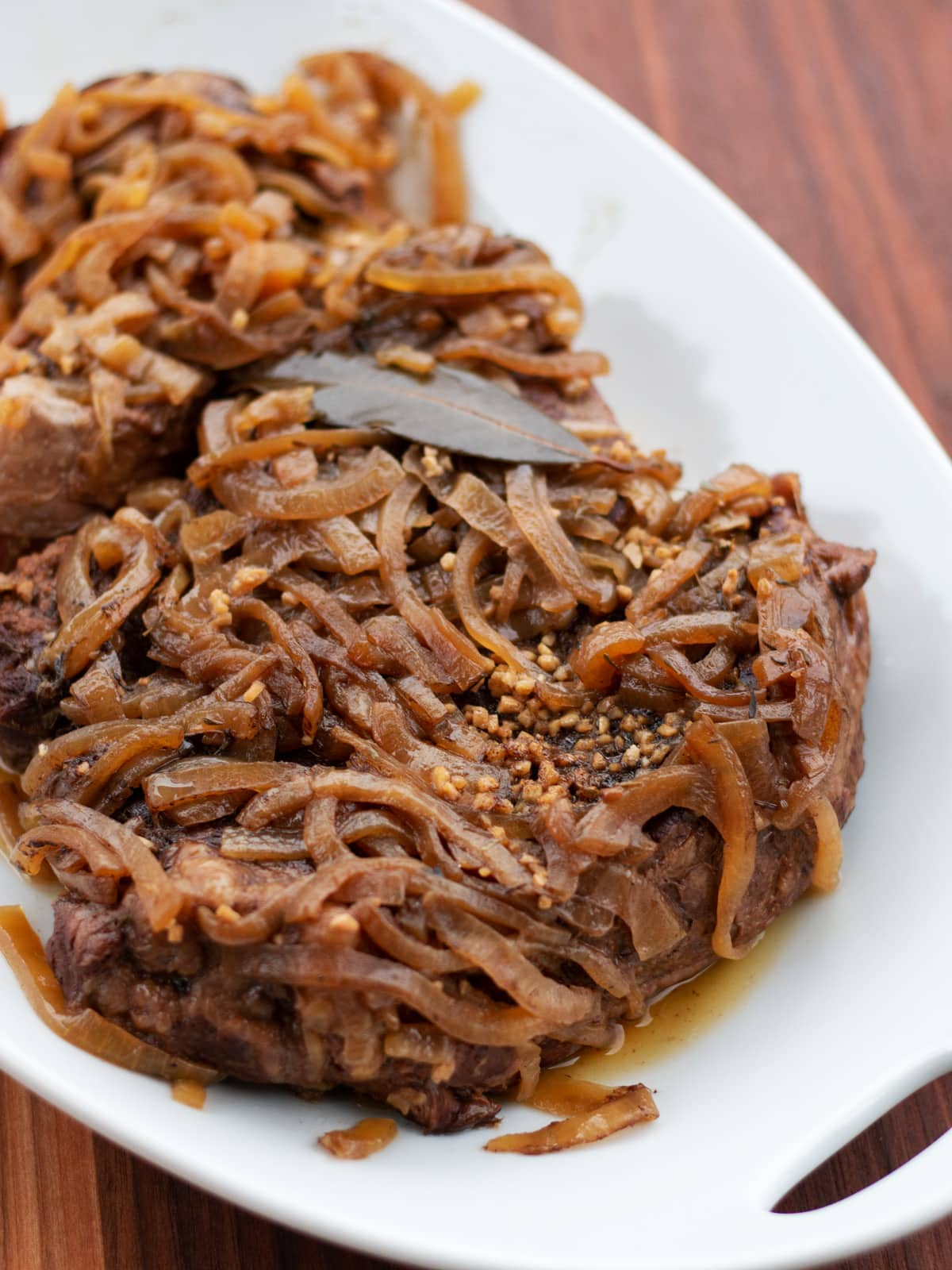 Delicious French Onion Roast Beef made in the slow cooker. Get the recipe from Cosmopolitan Cornbread.
