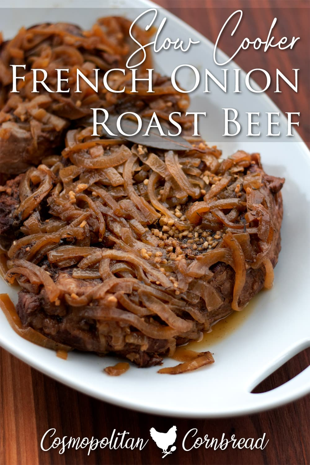 This easy French Onion Roast Beef recipe is fall apart tender, and has all that French onion flavor that you love.