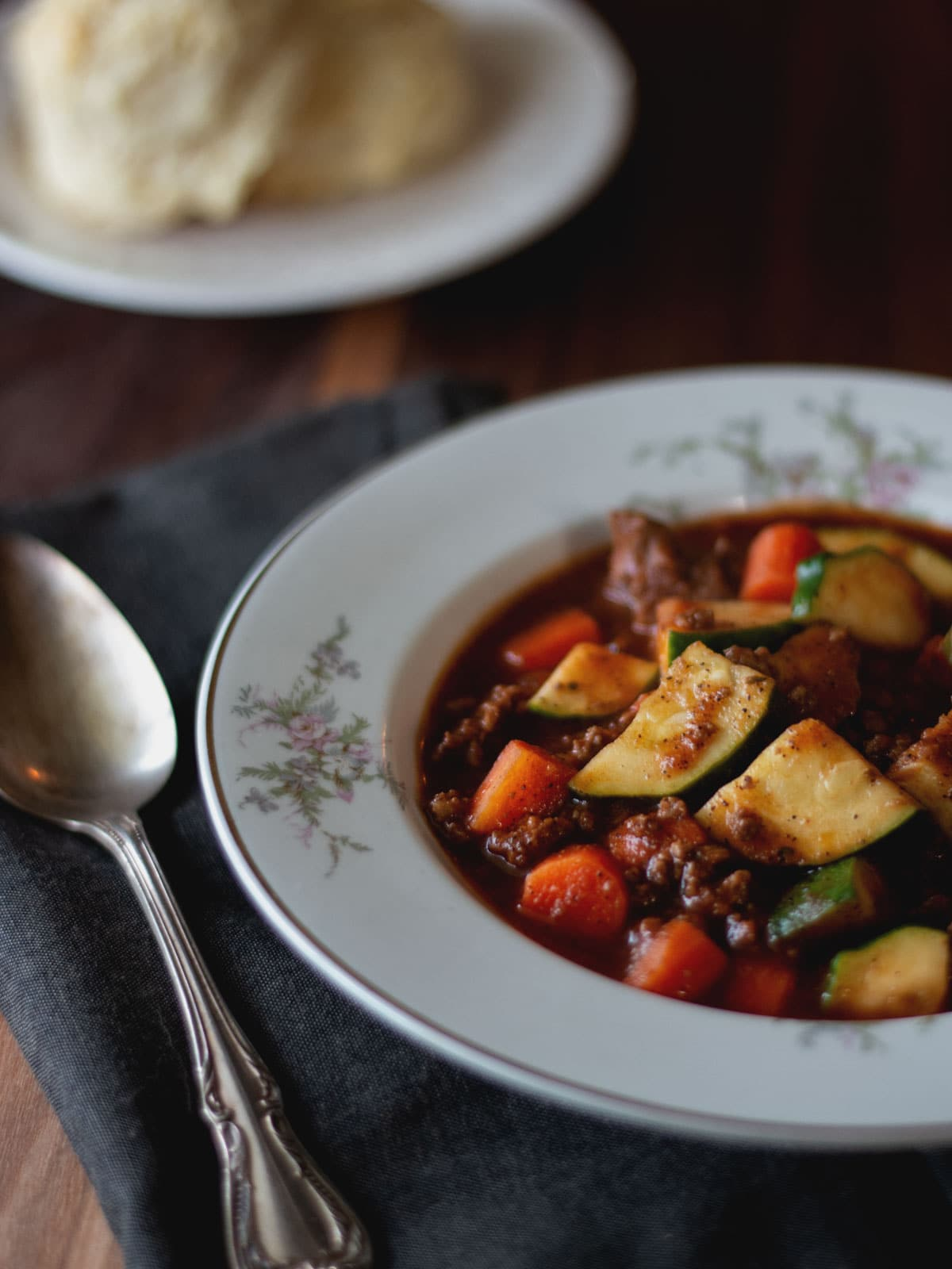 This Zucchini and Beef Soup is a hearty vegetable soup with tons of flavor.