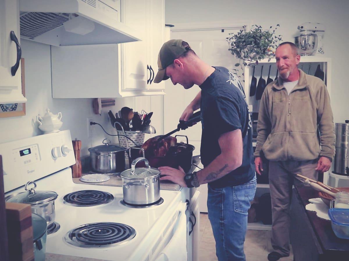 Joshua & Mr. Smith on Thanksgiving
