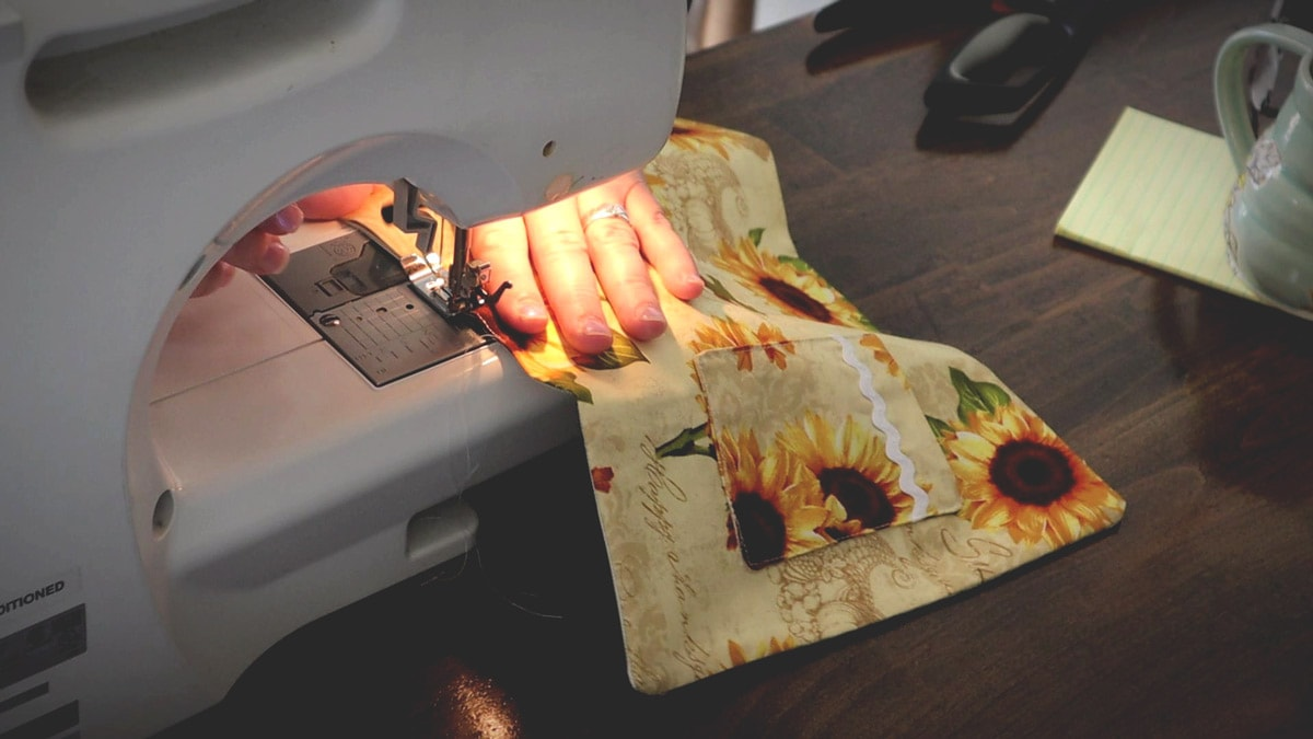 sewing the cover