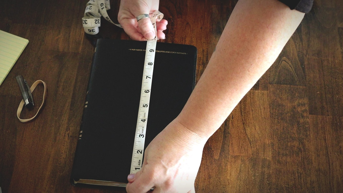 measuring the height of the bible