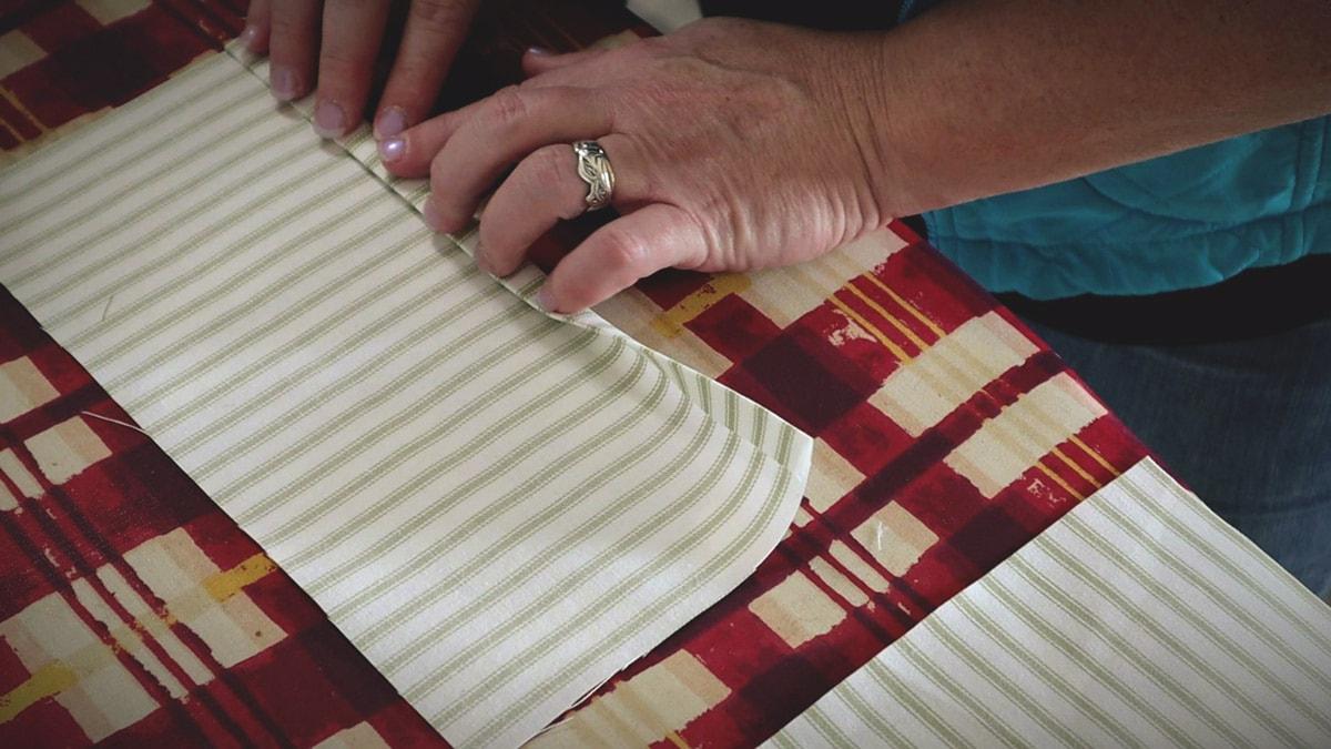 ironing the inside flap edge