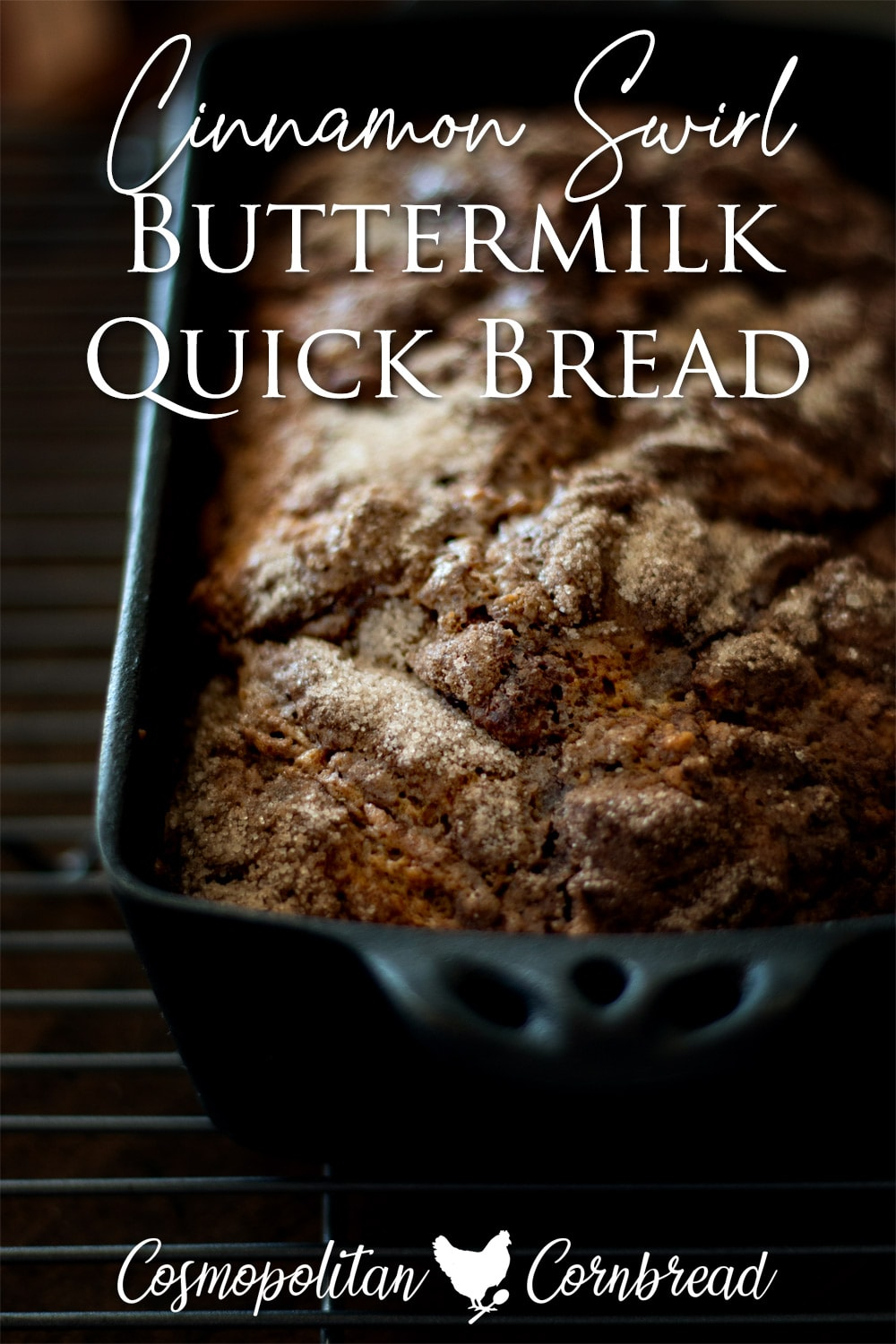 Super moist quick bread with a swirl of cinnamon and crunchy topping. This is my most popular quick bread recipe of all time.