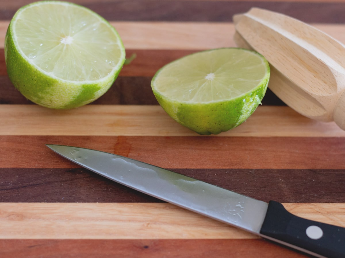 lime on cutting board