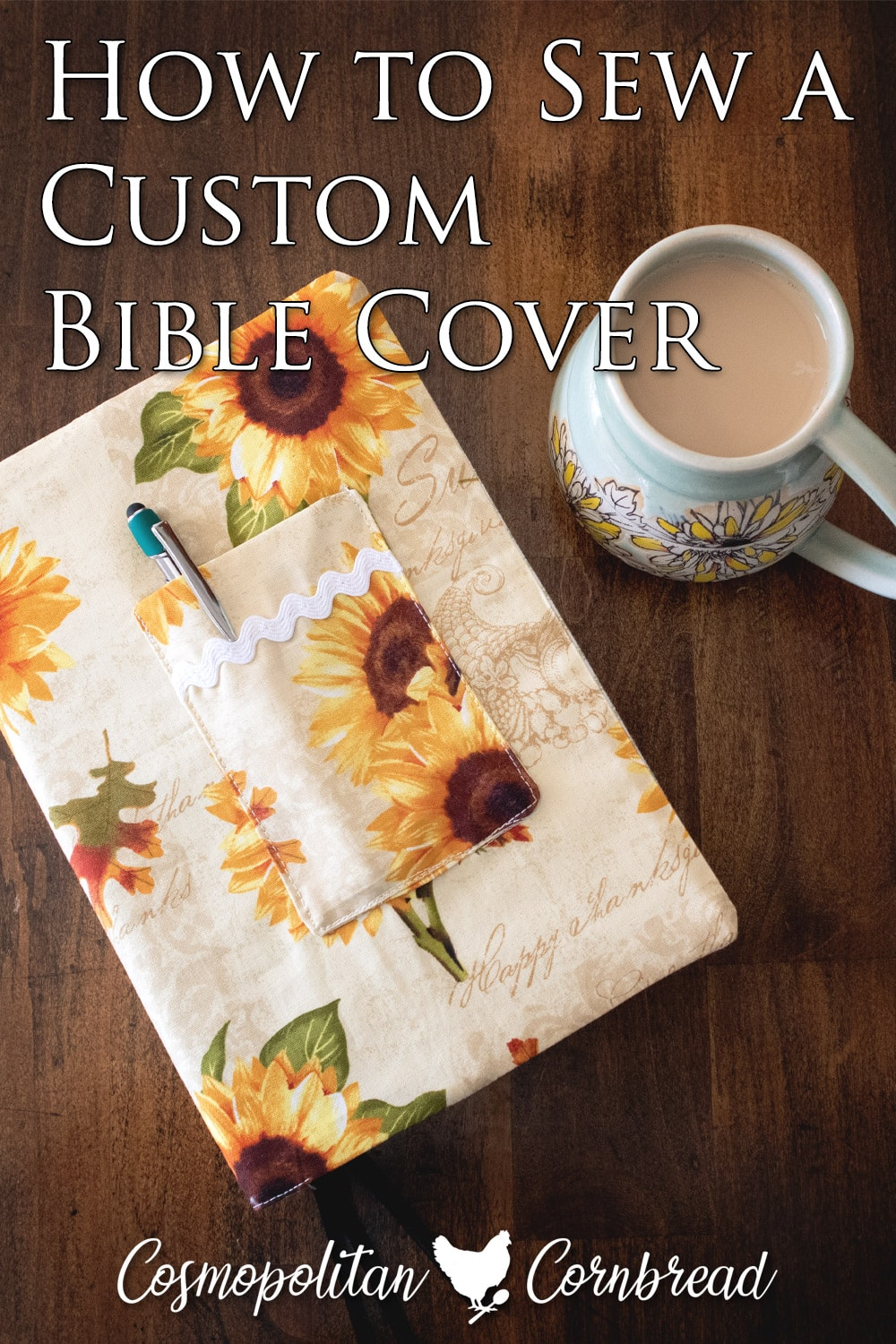 How to Make a Custom Bible Cover | Tutorial Article and Video from Cosmopolitan Cornbread