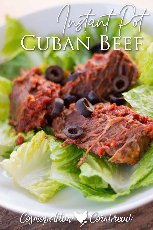Ropa Vieja or Cuban beef is wonderfully seasoned, tender, juicy beef roast with peppers and onion.