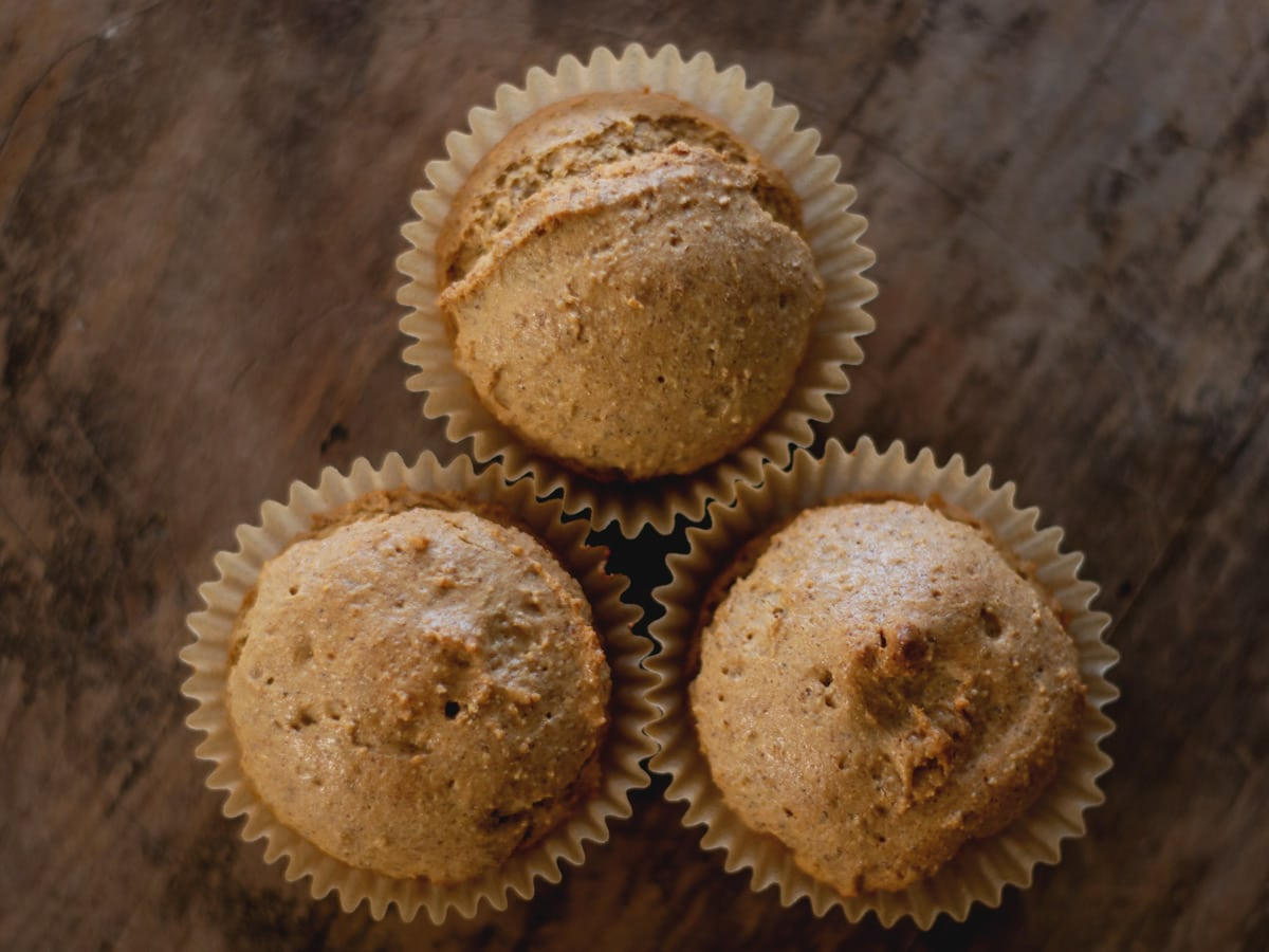 The nutty flavor of almonds shines through in these moist Almond Butter Muffins.