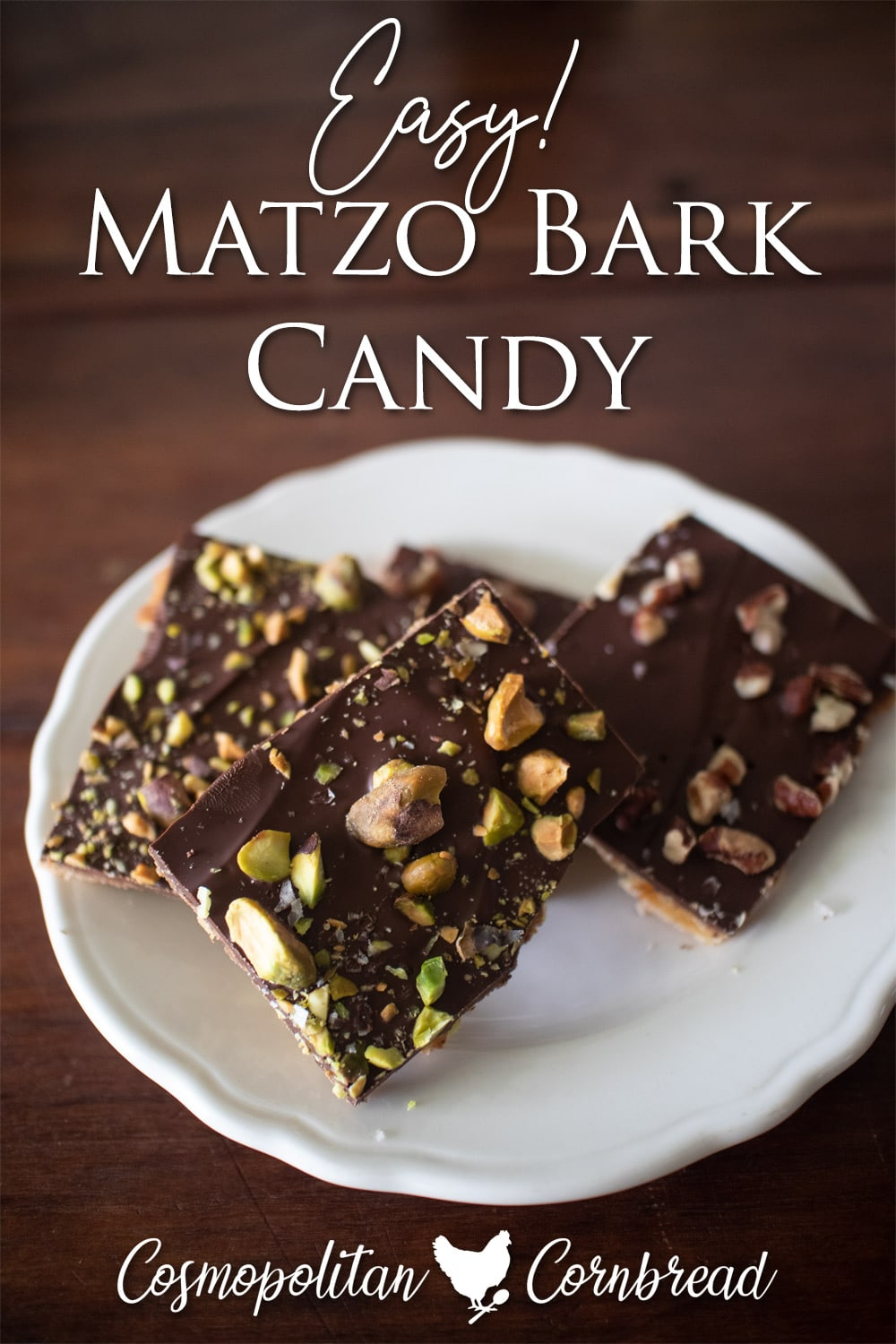 This delicious treat is called by many names: Matzo Bark, Matzo Candy or Matzo Crack...because you just can't stop eating it!