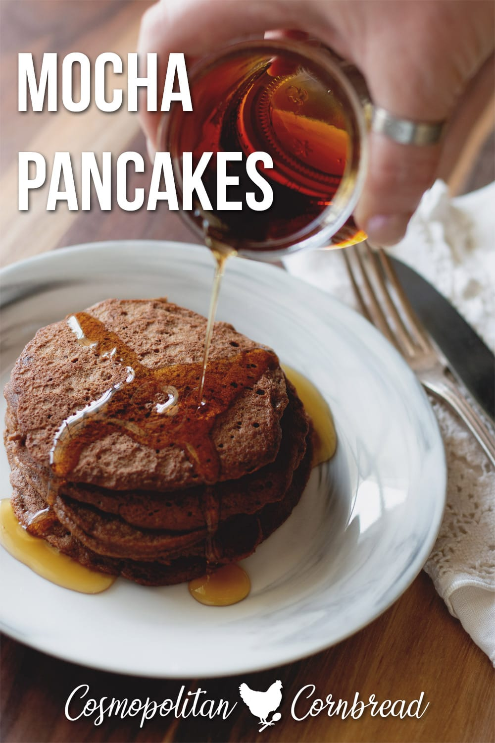These delicious and healthy Mocha Pancakes are perfect for the coffee lovers who like a little mocha in the morning.
