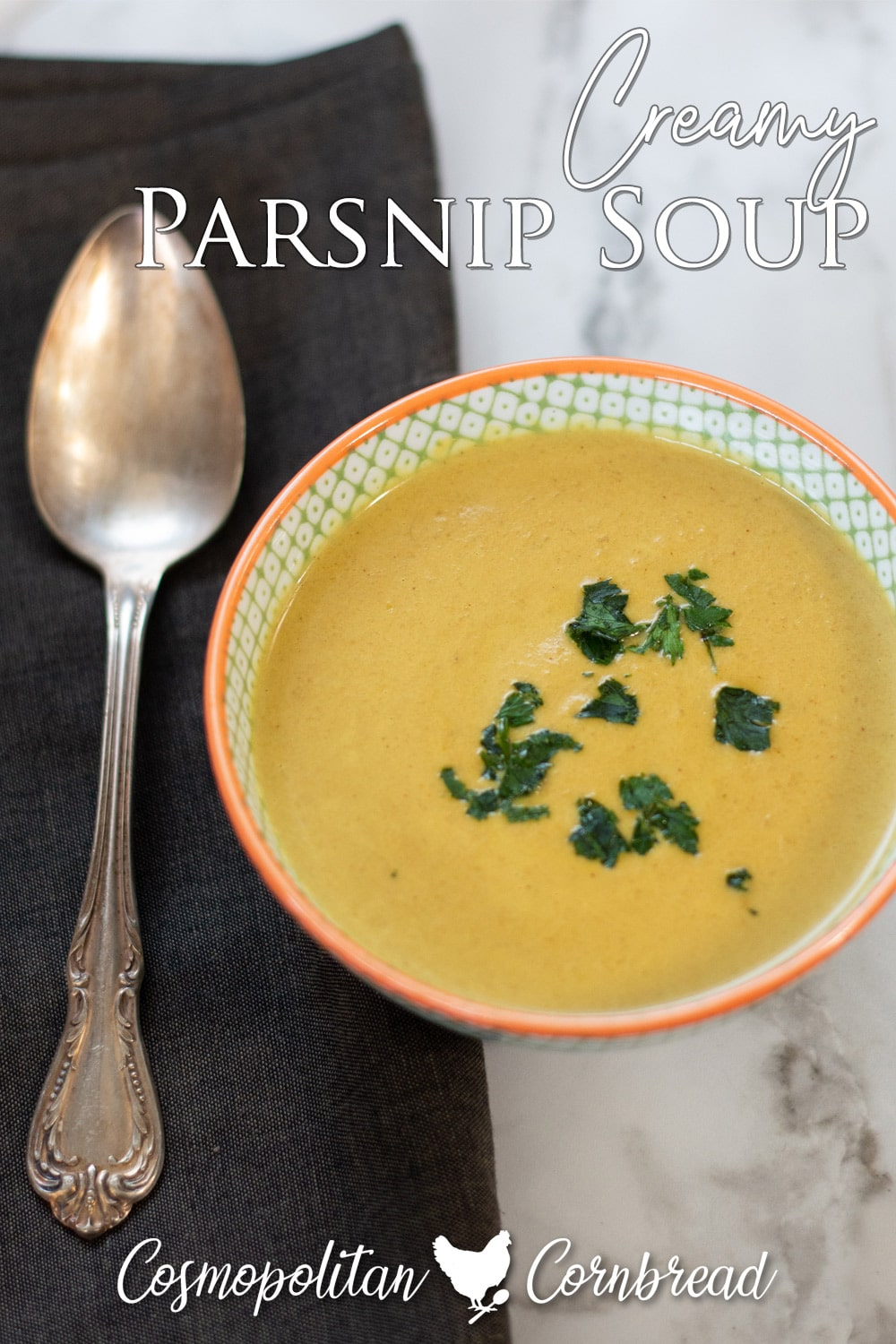 Creamy Parsnip Soup is a wonderful and healthy way to enjoy this much-overlooked root vegetable.