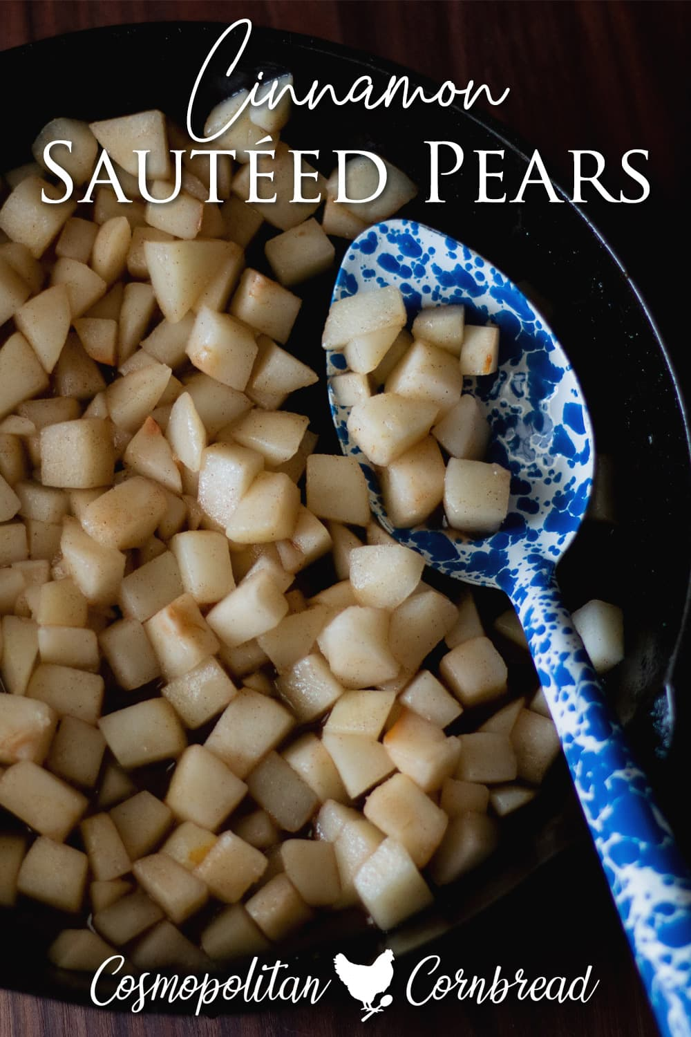 This flavorful recipe of skillet sautéed pears serves as a stand-alone dish, a dessert or a great topper for other things.