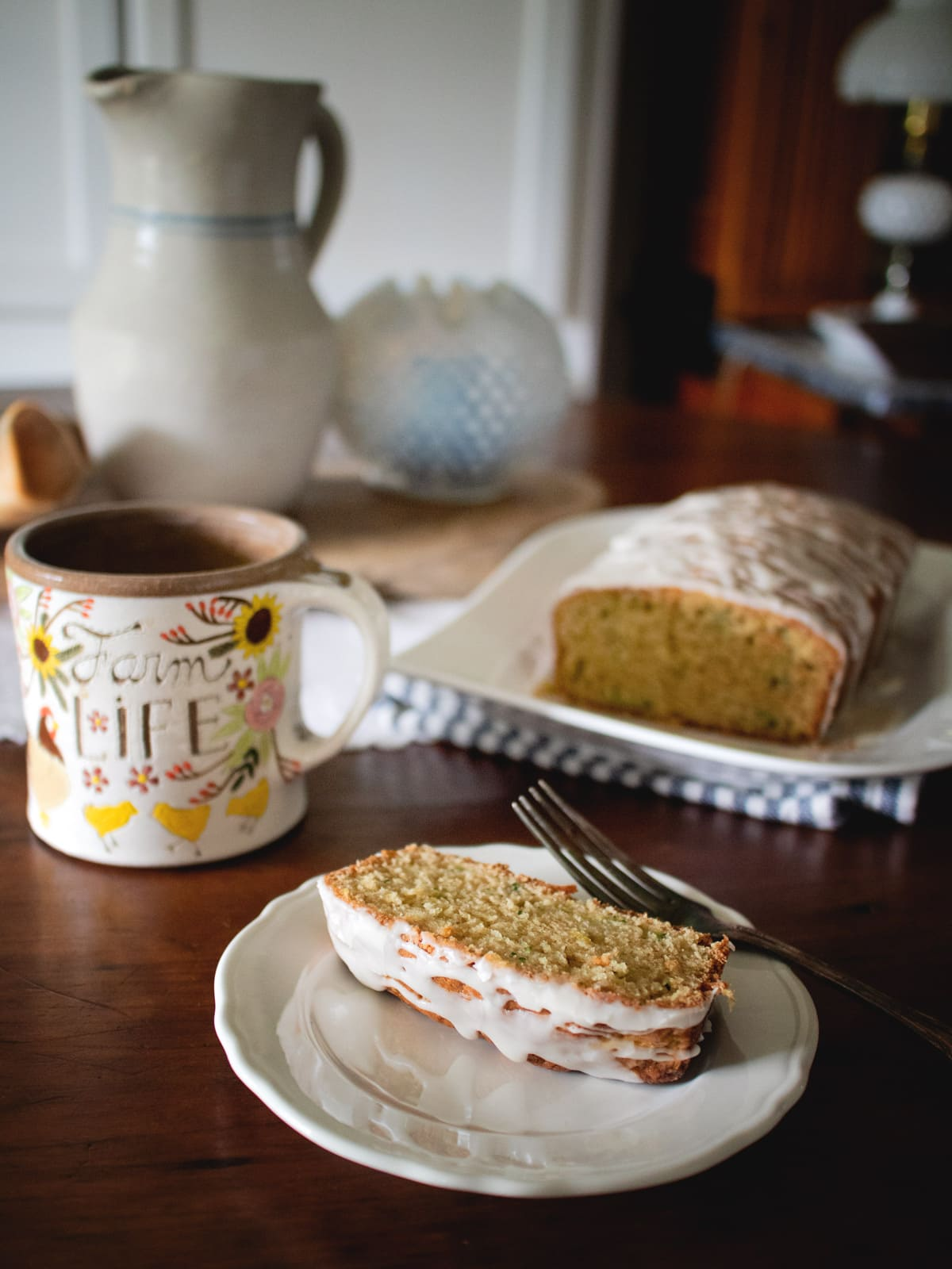 This delicious lemon zucchini bread has a lovely lemon glaze and is a quick favorite for your summer squash.