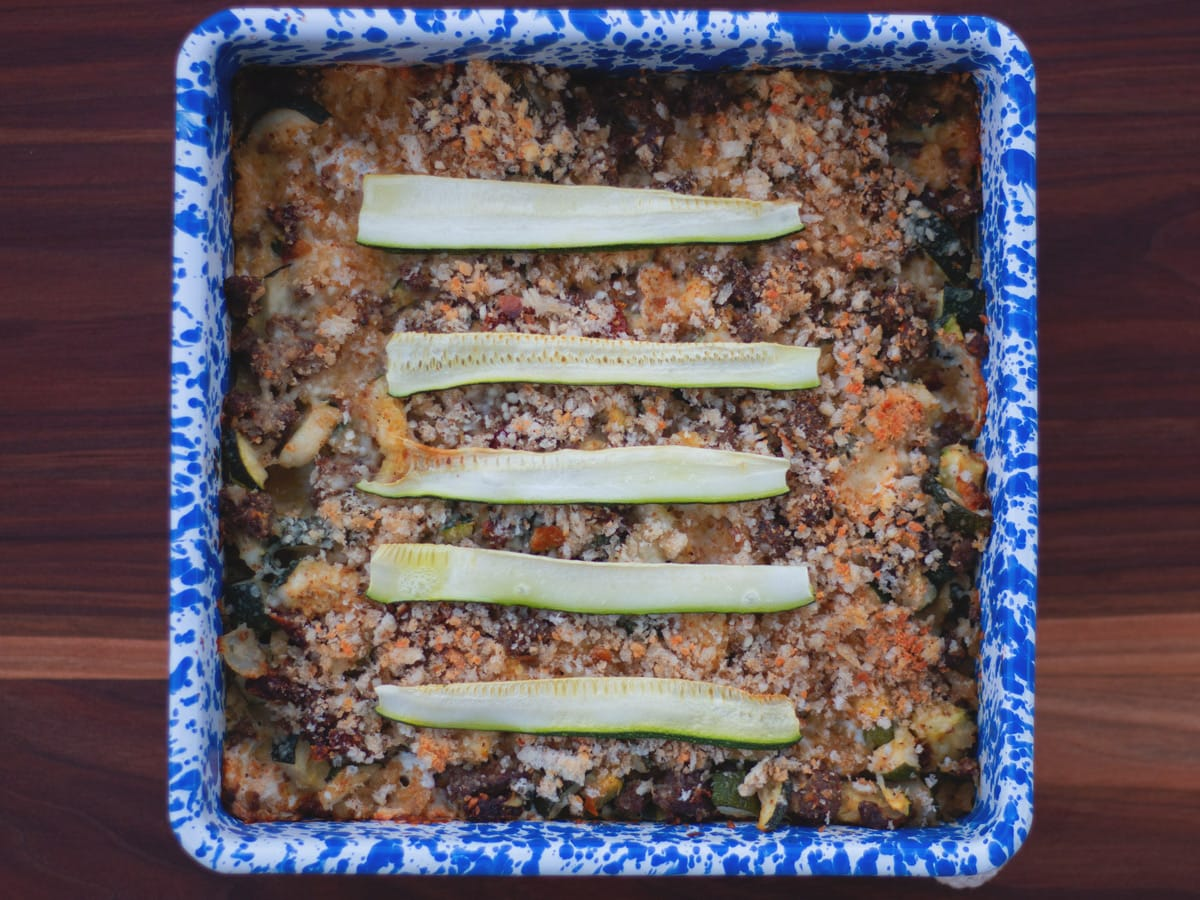 This Italian Zucchini Casserole is packed with flavor and is a great way to enjoy zucchini as a main dish.