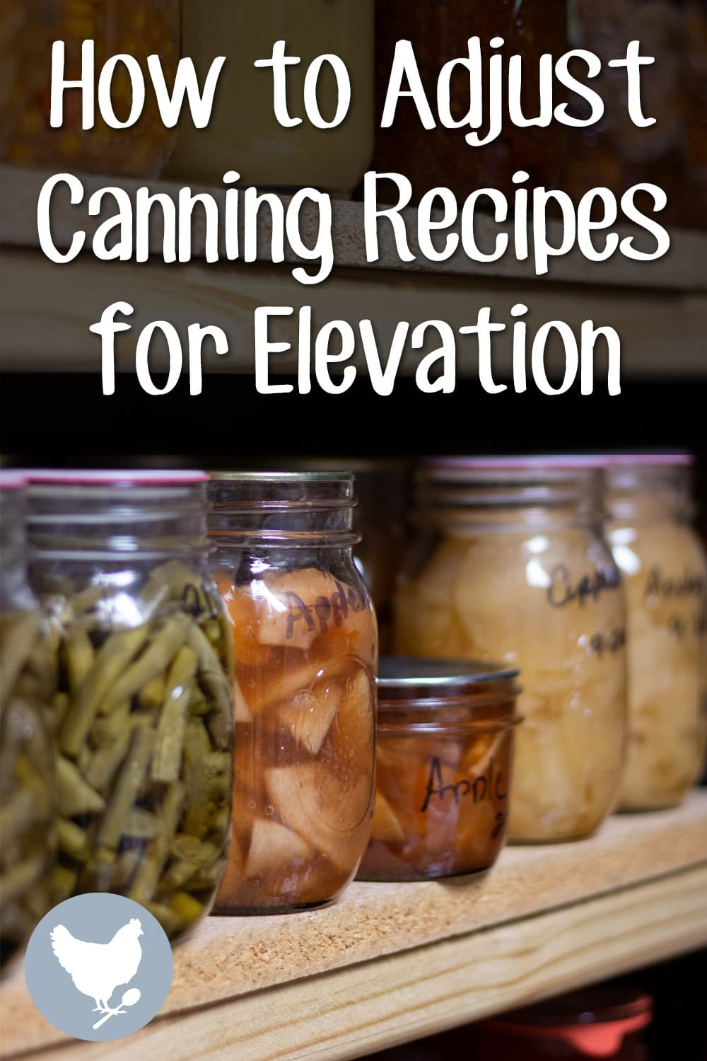 How to adjust canning recipes for elevation. Can your foods safely, no matter where you live.