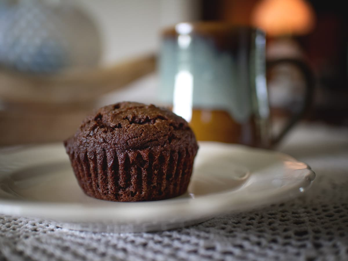 These delicious, paleo-friendly muffins are dotted with dried cranberries and filled with rich, chocolate flavor.