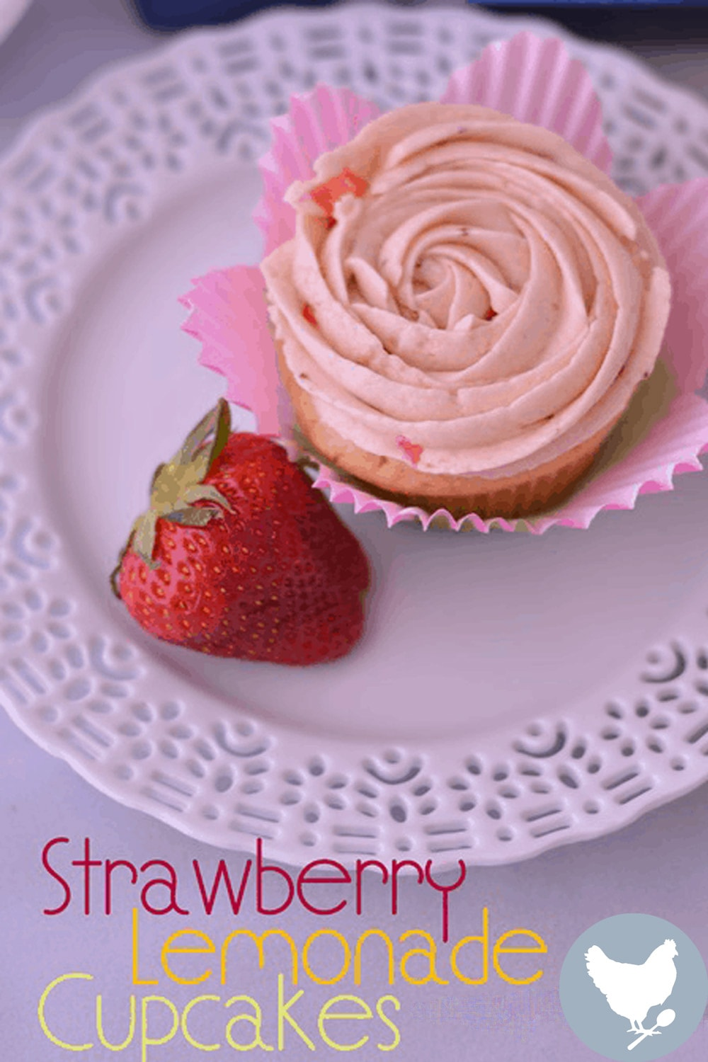 cakes – a lightly lemony cupcake topped with creamy frosting with actual bits of fresh strawberry. Mmmmmmm!