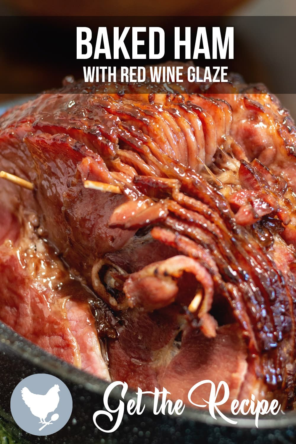 Baked Ham with Red Wine Glaze is the perfect holiday ham...or any day ham for that matter.