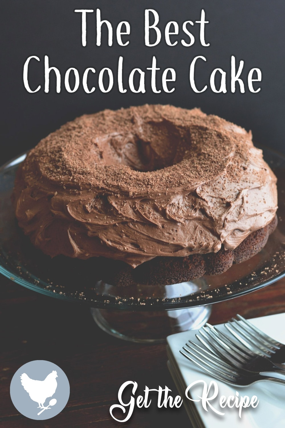 The Best Chocolate Cake - Homemade chocolate cake from scratch, with  rich chocolate frosting. This will be your favorite chocolate cake ever!