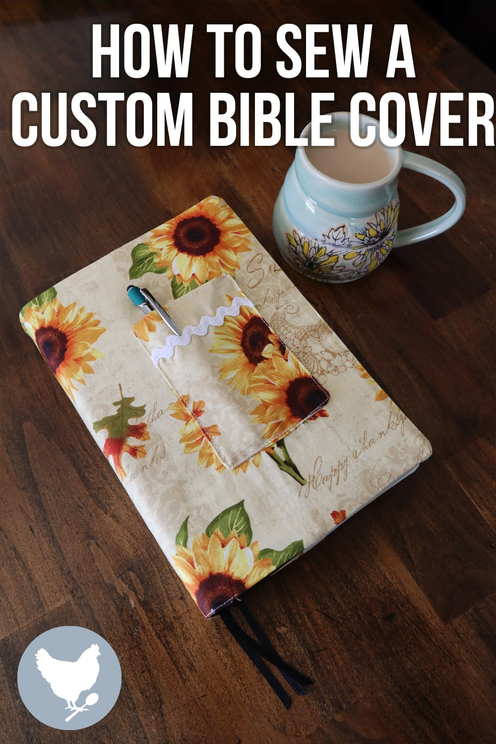 You can make a cloth bible cover to perfectly fit your own bible. This article includes a how-to video, taking you through the entire process.